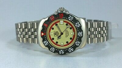 £325 • Buy TAG Heuer F1 Formula One Gents Quartz Watch Green Lume Dial Date With Box