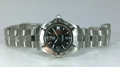 £445 • Buy TAG Heuer 2000 Exclusive Gents Quartz Watch Black Dial With Date & Boxes & Books