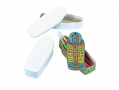 £12.89 • Buy Strong White Cardboard Egyptian Sarcophagus Pencil Boxes For Children