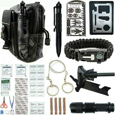 $28.59 • Buy Survival Kit 65 IN 1 Emergency Tactical Defense Equipment Outdoor Camping Tools