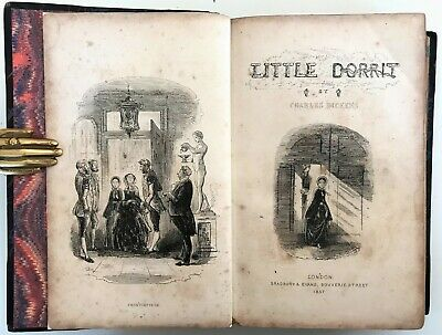 £10.50 • Buy 1857 FIRST EDITION Dickens LITTLE DORRIT Illustrated H.K.Browne PHIZ 38 Plates