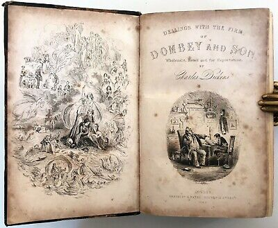 £38 • Buy 1848 FIRST EDITION Dickens DOMBEY AND SON Illustrated H.K.Browne PHIZ 39 Plates