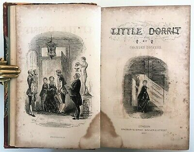 £27 • Buy 1857 FIRST EDITION Dickens LITTLE DORRIT Illustrated H.K.Browne PHIZ 38 Plates