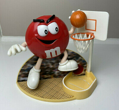 $12 • Buy Vintage M&M Jammin Red Candy Dispenser Basketball Player Dunk Advertising 1999