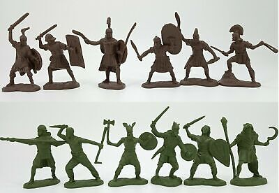 £22.16 • Buy Galls Barbarians And Roman Knights Vinyl Plastic Set 12 Figures Toy Soldiers