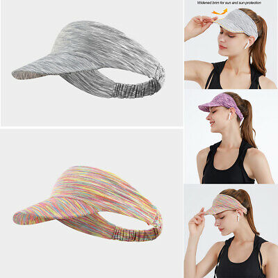£3.49 • Buy Lady Empty Top Hat Summer Sun Visor Cap UV Protection For Outdoor Running Sports
