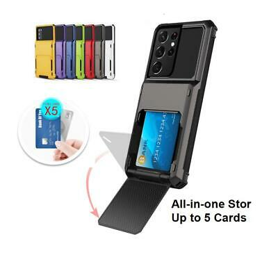 AU10 • Buy Slim Shockproof Phone Case With Card Holder Cover For Samsung A8 9 S10 Note20 21