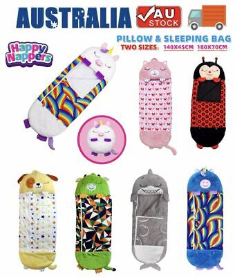 AU35.99 • Buy Happy Nappers Large Size Sleeping Bag Kids Adults Play Pillow Unicorn Gifts AU