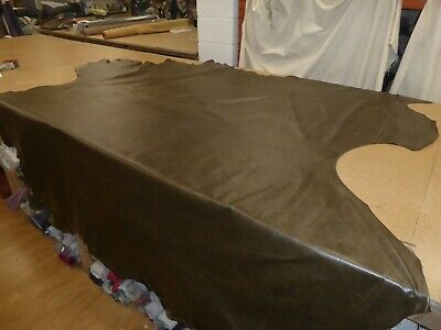 £99.99 • Buy GREEN - 61.15 Sqft Distressed Leather Upholstery Hide (OLD ENGLISH ALGA CREST)