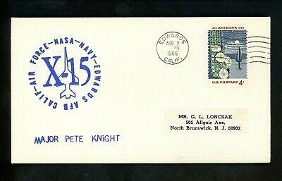 £12.77 • Buy US Space Cover X-15 Test Flight 164 Pilot Pete Knight Edwards AFB CA 8/3/1966