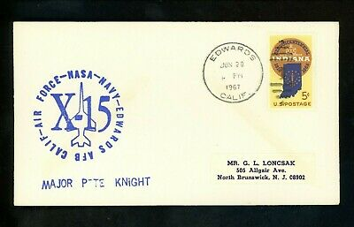 £12.06 • Buy US Space Cover X-15 Test Flight 184 Pilot Pete Knight Edwards AFB CA 7/29/1967