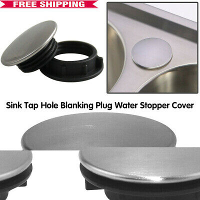 £2.89 • Buy Stainless Steel Kitchen Sink Tap Hole Blanking Plug Stopper Basin Cover 36mm