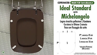 £57.44 • Buy WC-Seat MADE For Wc MICHELANGELO/IDEAL STANDARD Model. WALNUT. Type DEDICATED
