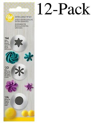 £40.03 • Buy Wilton 3-Piece Stainless Steel Extra Large Decorating Tip Set (Pack Of 12)