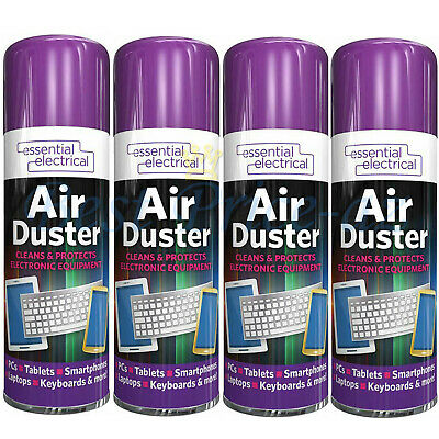 £7.99 • Buy New 4x Compressed Air Duster Spray Can Cleans Protects Laptops Keyboards  200ml