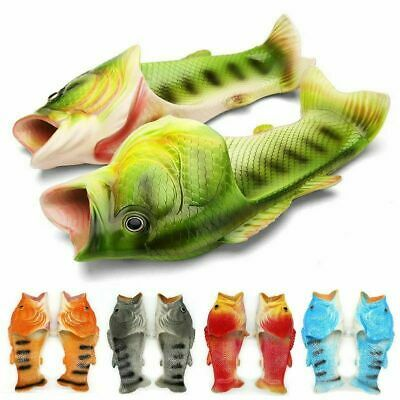 $ CDN23.91 • Buy Creative Unisex Fish Shower Slippers Funny Beach Sandals Parent-child Shoes Hot