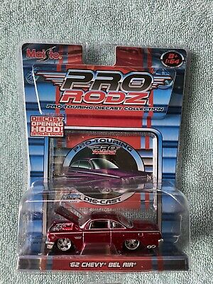 $20 • Buy Lot Of 2 2005 Maisto Pro Rodz 1962 Chevy Bel Air. Blue & Red. New In Package.