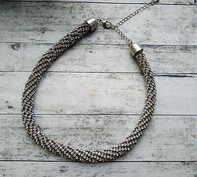 £9.50 • Buy Chunky Rhinestone Sparkle Necklace Statement Jewellery Runway Bling Sparkly