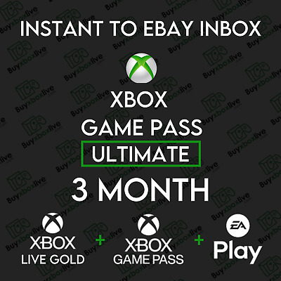 $ CDN20.67 • Buy Xbox Live 3 Month GOLD & Xbox Game Pass Ultimate (6 X 14 Days) INSTANT 24/7