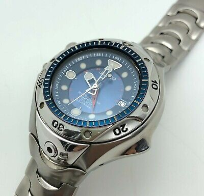 $594 • Buy [w762] SEIKO MARINE MASTER 200m SBDW015 5M65-0A60 KINETIC Pipin Diver GMT VG