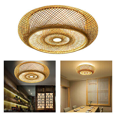 £24.68 • Buy Restaurants Bamboo Woven Lampshade Ceiling Light Lamp Shade Hotel Decoration