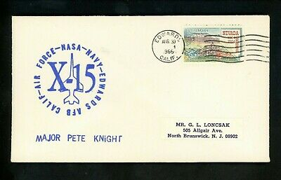 £10.64 • Buy US Space Cover X-15 Test Flight 170 Pilot Pete Knight Edwards AFB CA 8/30/1966
