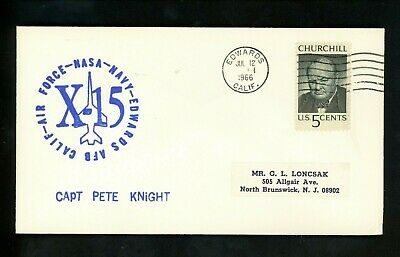 £10.64 • Buy US Space Cover X-15 Test Flight 160 Pilot Pete Knight Edwards AFB CA 7/12/1966