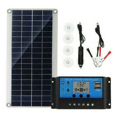£19.99 • Buy 20W Dual USB Solar Panel Kit 12V Battery Charger 30A Controller For Car RV Boat