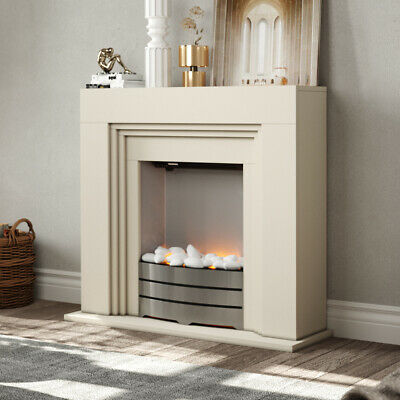 £199.95 • Buy Modern Electric Fireplace Fire And LED Effec Fire Flame Stove MDF White Surround