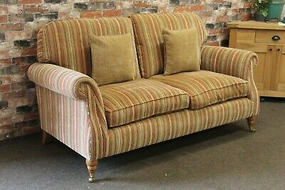 £899 • Buy Parker Knoll Westbury L2 Seater Sofa In The Baslow Stripe Gold Fabric