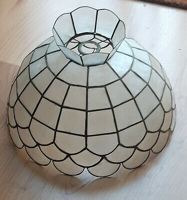 £20 • Buy Vintage Capiz Shell Ceiling Pendant Lamp Shade, Pre-owned