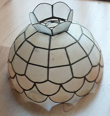 £15 • Buy Vintage Capiz Shell Pendant Lamp Shade, Pre-owned