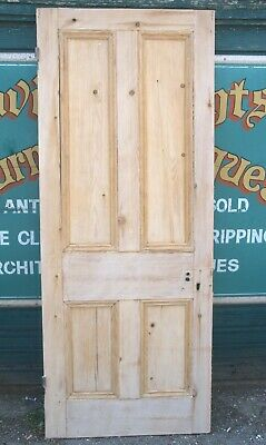 £99 • Buy 4805 Old Victorian Stripped Pine Door First Of Seven From Same Property