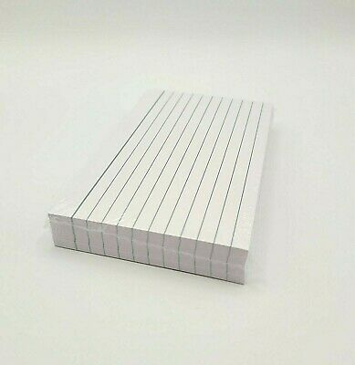 £4.75 • Buy 200 Lined Revision Flash Index White Record Cards Double Sided Narrow Ruled UK