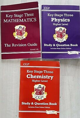 £2 • Buy CGP Key Stage 3 Chemistry, Physics And Mathematics Revision/Study Books