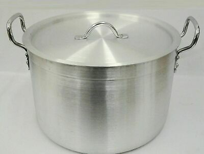 £199.59 • Buy New Heavy Duty Casserole Aluminium Cooking Pot Pan Lid Catering - Ground Base