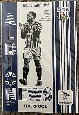 £5.99 • Buy West Brom V Liverpool 16/5/21 Programme Brand New. Mint. Alisson Becker. Reduced