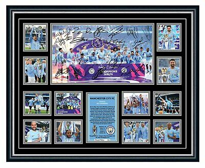 AU99.99 • Buy Manchester City Fc 2021 Epl Winners Signed Limited Edition Framed Memorabilia