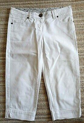 £4 • Buy Ladies White Skinny Crop Trousers From Next Sp Size 8