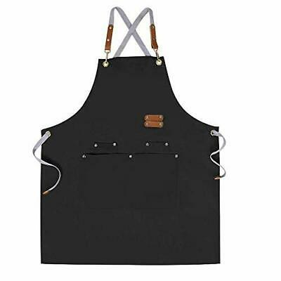 $25.61 • Buy Chef Apron-Cross Back Apron For Men Women With Adjustable Straps And Black
