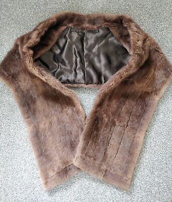 £12.50 • Buy Vintage Fur Stole/Cape/Wrap, Possibly Sable Mink Or Other, Peaky Blinders Style,