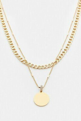 £30 • Buy Karen Millen Gold Plated Coin Layered Necklace