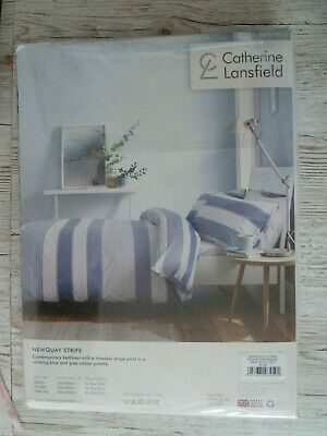 £15 • Buy Catherine Lansfield  Nautical Style Duvet Cover Set. KING Size, Newquay Stripe