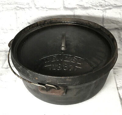 $ CDN109.30 • Buy VINTAGE 7 Quart  WENZEL 1887 CAST IRON DUTCH OVEN 12  PRE-OWNED With Lid SFB