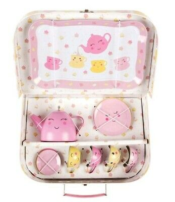 £14.99 • Buy BNWT Sass And Belle Adorable Happy Picnic  Box Childrens Tea Set, Pink & Yellow.