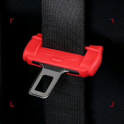 $ CDN5.50 • Buy Red Car SUV Safty Seat Belt Silicone Buckle Clip Anti-Scratch Cover Accessories