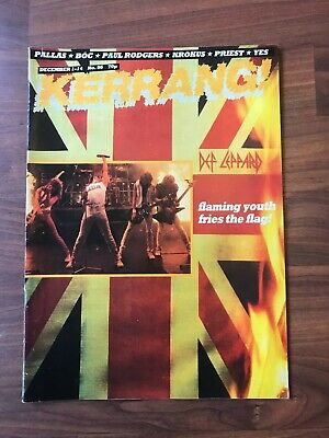 £8.49 • Buy Vintage KERRANG! Music Magazine. #56 - Dio, Def Leppard, Pallas. With Posters