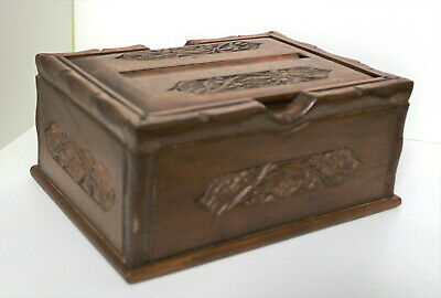£16 • Buy Vintage Hand Carved Wooden Puzzle Box Antique Chest Secret Mystery Storage 6