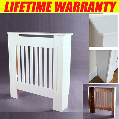 £38.90 • Buy Radiator Cover Wall Cabinet MDF Wood Furniture Vertical Grill White Modern Cheap