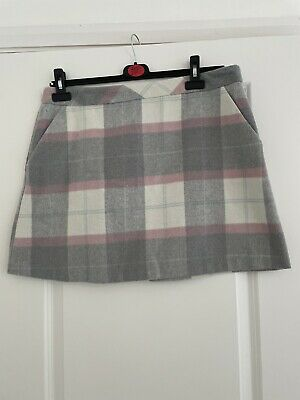 £1 • Buy Womens Checked Skirt Size 16 Pink & Grey
